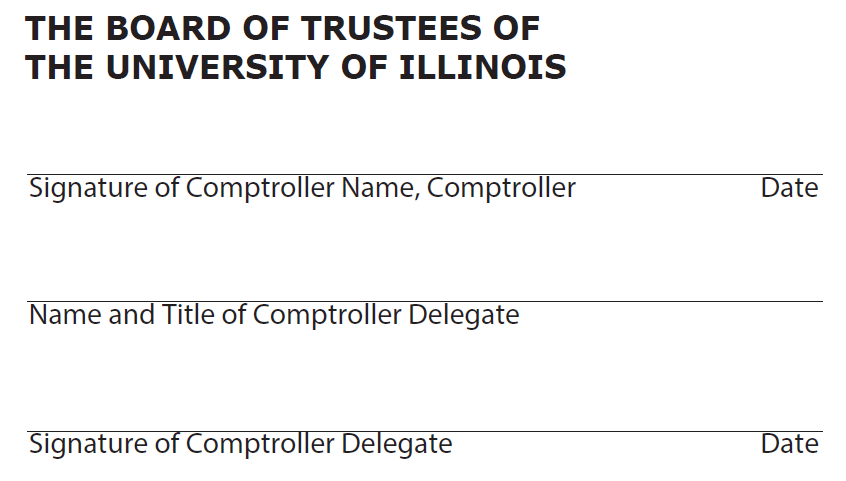 The Board of Trustees of The University of Illinois signature image
