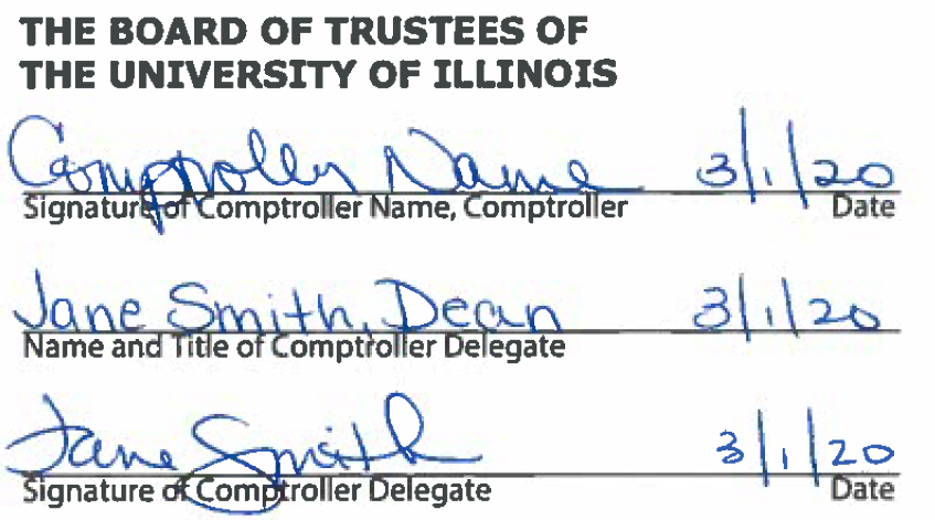 The Board of Trustees of The University of Illinois signed image